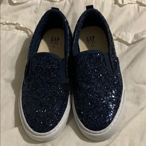 Girls gap sparkly slip on sneakers nwot size 13